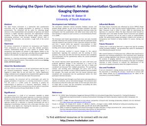 Baker SITE Open Factors