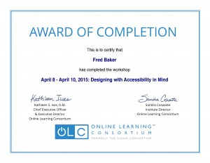 OLC Design for Accessiblity Certificate