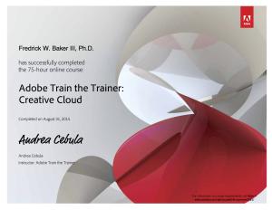 Baker Adobe Train the Trainer Course Certificate 2