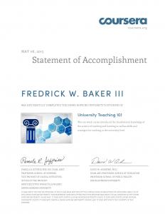 University Teaching 101 Certificate