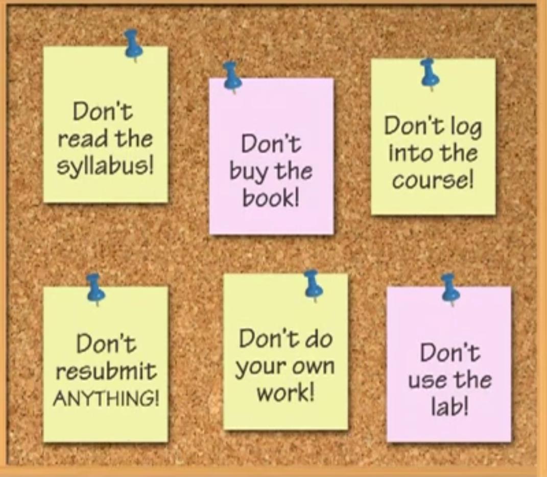 How to Fail CIS 150/250